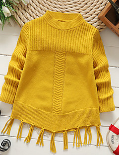 Girls' Solid Sweater & Cardigan,Cotton Winter Fall Long Sleeve Cute Red Blushing Pink Camel Yellow