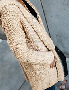 tanie Swetry damskie-Damskie Kaszmir Moda miejska Kaptur Flare rękawem Długi Kaszmirowy Jendolity kolor Długi rękaw / Wiosna / Jesień