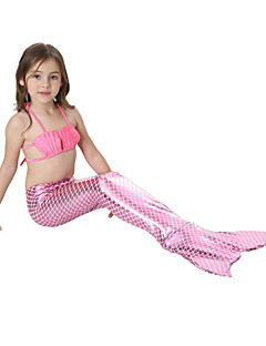 cheap Girls' Clothing-Girls' Solid Cartoon SwimwearPolyester Nylon Royal Blue Light Blue Fuchsia Purple Navy Blue