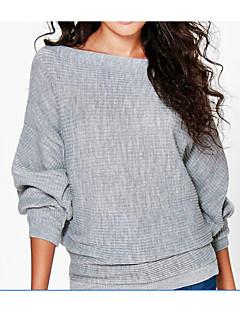 baratos Suéteres de Mulher-Mulheres Para Noite Manga Longa Longo Bolero - Sólido