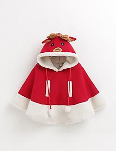 billige Halloweenkostymer-Reinsdyr Julkjole Barne Jul Festival / høytid Halloween-kostymer Rød Jul Jul