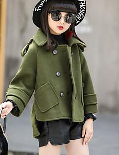 お買い得  女児ジャケット&コート-女の子 ソリッド ジャケット&コート ブルー アーミーグリーン