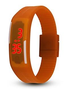 billige Børneure-Par Digital Armbåndsur Sportsur Kinesisk Kalender Kronograf Afslappet Ur Selvlysende i mørke PU Gummi Bånd Afslappet Sej Blåt Brun Grøn
