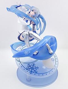 billige Anime cosplay-anime action figurer inspirert av vokaloid snø miku pvc cm modell leketøy dukke leketøy