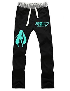 """billige Anime Kostymer-Inspirert av Vokaloid Hatsune Miku Anime  """"Cosplay-kostymer"""" Cosplay Topper / Underdele Ensfarget Bukser Til Unisex"""