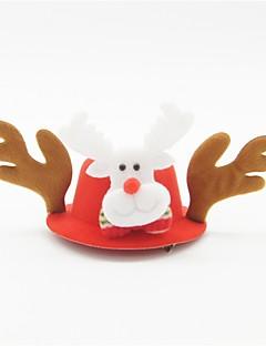 hesapli Noel Dikmeler-Hayvan Noel Şapkası Fuşya Diğer Malzeme Cosplay Aksesuarları Yılbaşı