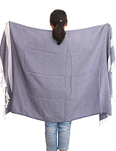 Frisse stijl Badhanddoek,Raster Superieure kwaliteit Poly/ Katoen Gebreid Handdoek