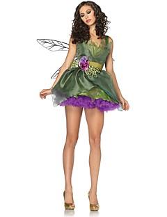 billige Halloweenkostymer-Eventyr Tingeling Julkjole Barne Halloween Jul Jul Halloween Festival / høytid Drakter Grønn Jul