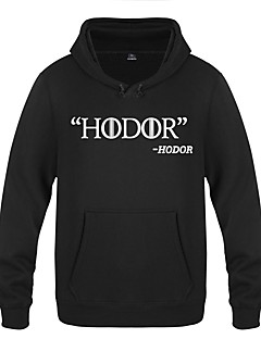 Hodor Ugly Christmas Sweater / Sweatshirt Men's Festival / Holiday  Halloween Costumes White Yellow Red Letter Casual