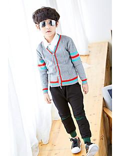 billige Sweaters og cardigans til drenge-Drenge Trøje og cardigan Ensfarvet, Bomuld Polyester Forår Efterår Langærmet Simple Navyblå Grå
