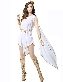 athena goddess ancient greek ancient rome costume womens skirt white vintage cosplay polyster sleeveless knee length halloween costumes