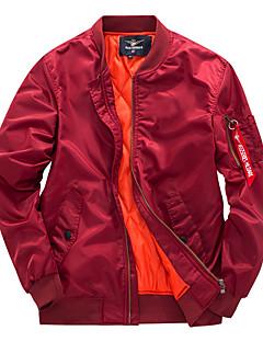 billige Plus Størrelser-Herre-Herre Afslappet/Hverdag Pea coats - Ensfarvet