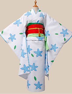 "billige Anime cosplay-Inspirert av Hoozuki ingen Reitetsu Zashiki-warashi 2 Anime  ""Cosplay-kostymer"" Cosplay Klær Trykt mønster Midje Tilbehør Belte/bånd"