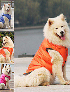 billiga Hundkläder-Hund Jakke / Väst Hundkläder Enfärgad Orange / Röd / Blå Terylen / Cotton / Polyster Kostym För husdjur Unisex Håller värmen / Fritid