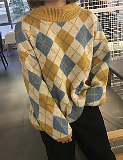 Χαμηλού Κόστους Chic Sweaters Sale-Γυναικεία Μακρυμάνικο Ζιβάγκο Πουλόβερ Στάμπα