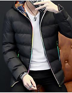 billige Herre Overtøj-Herre I-byen-tøj Bomuld Vatteret - Ensfarvet