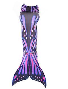 povoljno -Rep Sirene Suknja Božić / Maškare Festival / Praznik Halloween kostime žuta / Crvena / Bijela Color block Mermaid and Trumpet Gown Slip /