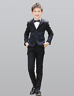 זול חליפות לנושאי הטבעת-שחור 100% כותנה חליפה לנושא הטבעת  - 5 כולל ג'קט אבנט למותניים וסט חולצה Pants עניבת פרפר