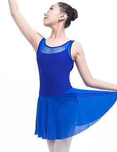 tanie Stroje baletowe-Balet Suknie Damskie Wydajność Spandeks Materiały łączone Bez rękawów Naturalny Ubierać