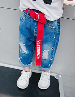 billige Jeans til drenge-Drenge Jeans Daglig Ensfarvet, Uld Bomuld Bambus Fiber Forår Simple Vintage Blå