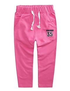 tanie Odzież dla chłopców-Spodnie Dla dzieci Jendolity kolor Wiosna Czerwony Blushing Pink Navy Blue Gray Fuchsia