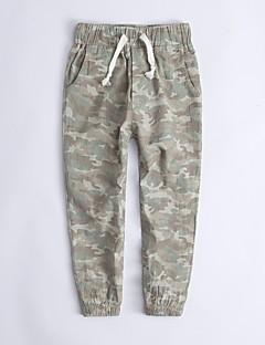billige Drengebukser-Drenge Bukser Camouflage Forår Regnbue Army Grøn