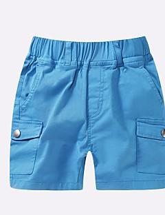 billige Drengebukser-Drenge Shorts Ensfarvet Sommer Blå Grøn Rød Gul