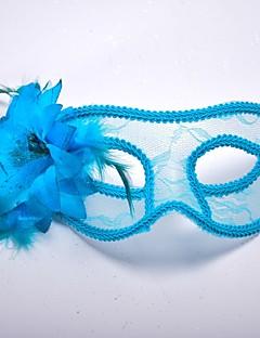 billige Halloweenkostymer-Venetiansk maske / Masquerade Mask Klassisk Rød / Blå / Hvit Plastikker Cosplay-tilbehør Maskerade Halloween-kostymer