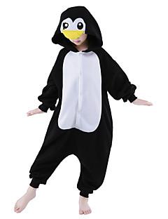 billige Kigurumi-Kigurumi-pysjamas Pingvin Onesie-pysjamas Kostume Polar Fleece Svart Cosplay Til Barne Pysjamas med dyremotiv Tegnefilm Halloween