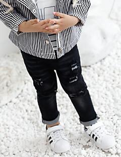 tanie Odzież dla chłopców-Spodnie Bawełna Włókno bambusowe Spandeks Dla chłopców Jendolity kolor Wiosna Urocza Aktywny Black