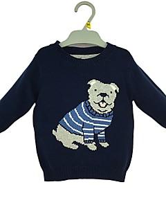 billige Sweaters og cardigans til drenge-Drenge Trøje og cardigan Tegneserie, Bomuld Vinter Forår Langærmet Simple Marineblå