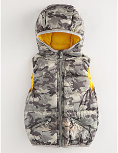 billige Jakker og frakker til drenge-Drenge Undertrøje og cami-top Trykt mønster, Polyester Vinter Blå Grå