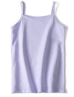 billige Undertøj og sokker til piger-Pige Undertøj Ensfarvet, Bomuld Sommer Simple Uelastisk Grøn Hvid Lilla Gul