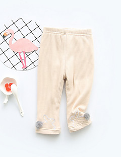 billige Bukser og leggings til piger-Pige Bukser Simpel, Bomuld Forår Normal Lyserød Mørkegrå Beige Navyblå Lysegrå