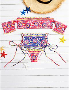 billige Bikinier og damemote 2017-Dame Bikini - Kunstnerisk Stil, Bukse Trykt mønster