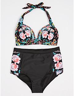 billige Bikinier og damemote 2017-Dame Grime Bikini Blomstret