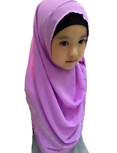 tanie Etniczne & Cultural Kostiumy-Moda Winieta Hidżab Abaya Cyan Light Purple Czerwony Niebieski Różowy Szyfon Akcesoria do cosplay