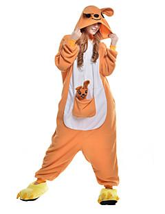 Kigurumi Pyjamas Kænguru Heldragtskostumer Pyjamas Kostume Polarfleece Syntetisk Fiber Oransje Cosplay Til Voksne Nattøj Med Dyr