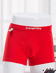 billige Undertøj og sokker til drenge-Drenge Undertøj Ensfarvet, Bomuld Alle årstider Simple Mikroelastisk Rød