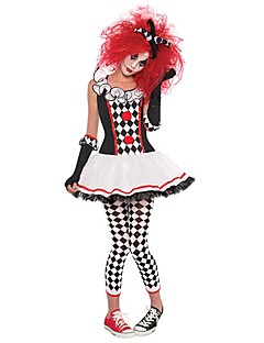 cheap -Burlesque Clown Circus Dress Cosplay Costume Party Costume Women's Carnival Festival / Holiday Halloween Costumes Black Color Block