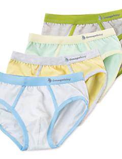 billige Undertøj og sokker til drenge-Unisex Undertøj Ensfarvet, Bomuld Forår Sommer Simple Mikroelastisk Grøn