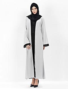 baratos Costumes étnicas e Cultural-Fantasias Egípcias Vestido árabe Mulheres Festival / Celebração Trajes da Noite das Bruxas Cinzento Sólido