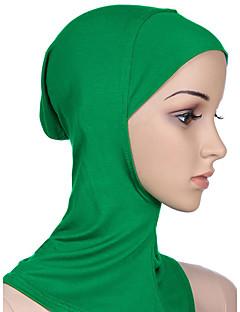 baratos Costumes étnicas e Cultural-Fantasias Egípcias Hijab / Khimar Mulheres Festival / Celebração Trajes da Noite das Bruxas Roxo Marron Verde Azul Rosa claro Sólido