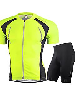 billige Sett med sykkeltrøyer og shorts/bukser-Nuckily Herre Kortermet Sykkeljersey med shorts - Hvit Rød Grønn Blå Sykkel Klessett, Pustende, Refleksbånd