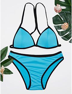 billige Bikinier og damemote 2017-Kvinner Ensfarget Bandasje Grime Bikini Nylon Spandex