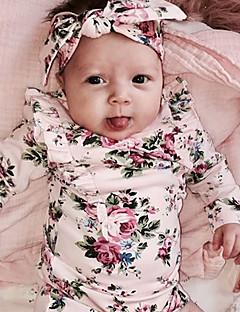 tanie Odzież dla dziewczynek-Bluzka Rayon Dla dziewczynek Codzienny Kwiaty Wiosna Na każdy sezon Długi rękaw Urocza Aktywny Blushing Pink