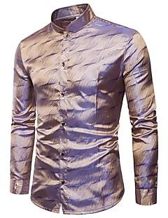 cheap Men's Shirts-Men's Club Cotton Shirt - Solid, Jacquard