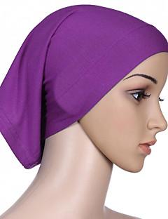 baratos Costumes étnicas e Cultural-Fantasias Egípcias Hijab / Khimar Mulheres Festival / Celebração Trajes da Noite das Bruxas Bege Roxo Vermelho Verde Azul Sólido