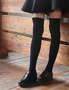 billige Undertøj og sokker til piger-Pige Trikotage Ensfarvet, Bomuld Forår Efterår Aktiv Elastisk Sort Mørkegrå