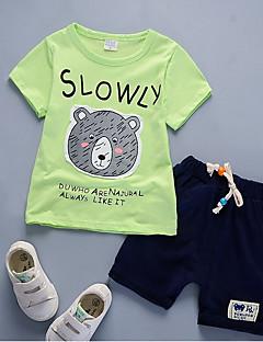 tanie Odzież dla chłopców-Komplet odzieży Nylon Dla chłopców Codzienny Lato Krótki rękaw Na co dzień Clover White Czerwony Yellow